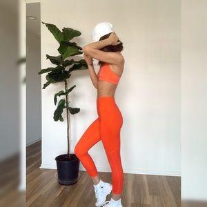 Bright Burnt Orange Red fitness set!